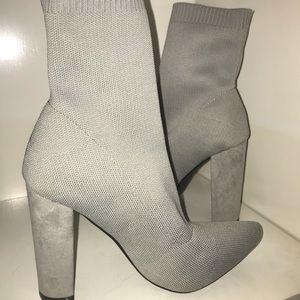 Gray ASOS sock booties